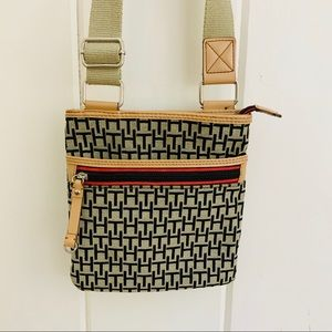 TOMMY HILFIGER TH Logo Canvas Crossbody Bag